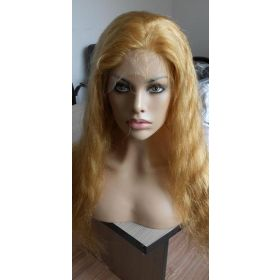 Full Lace Wig Body Wavy Brazilian Color #27 Honey Blonde
