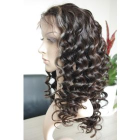 Curly with Highlights Full Lace Wig