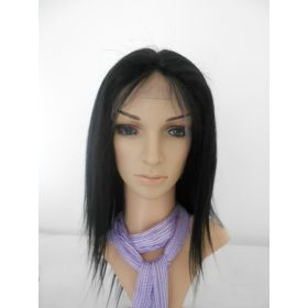 Staight Lace Front Wig Color #1
