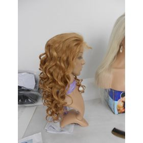 Honey Blonde Color #27 Lace Front Wig