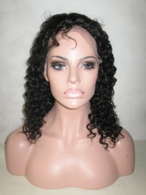 Deep Wavy Lace Front Wig Color #1B