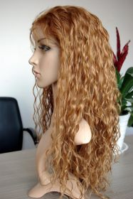 Brazilian Full Lace Wig Color #8 Naturally Wavy