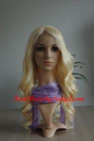 Malaysian Full Lace Wig Platinum Blonde